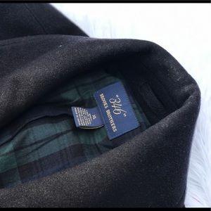 men's Brooks Brothers peacoat black XL